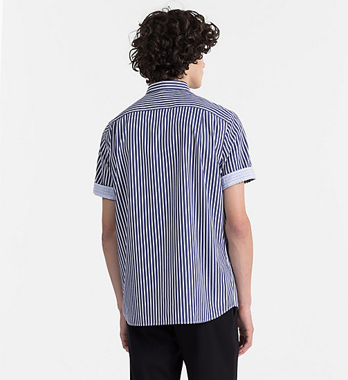 CALVINKLEIN Combined Stripe Shirt - SODALITE BLUE - CALVIN KLEIN BACK IN BUSINESS - detail image 1