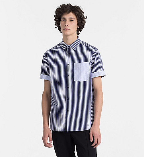 CALVINKLEIN Combined Stripe Shirt - SODALITE BLUE - CALVIN KLEIN BACK IN BUSINESS - main image