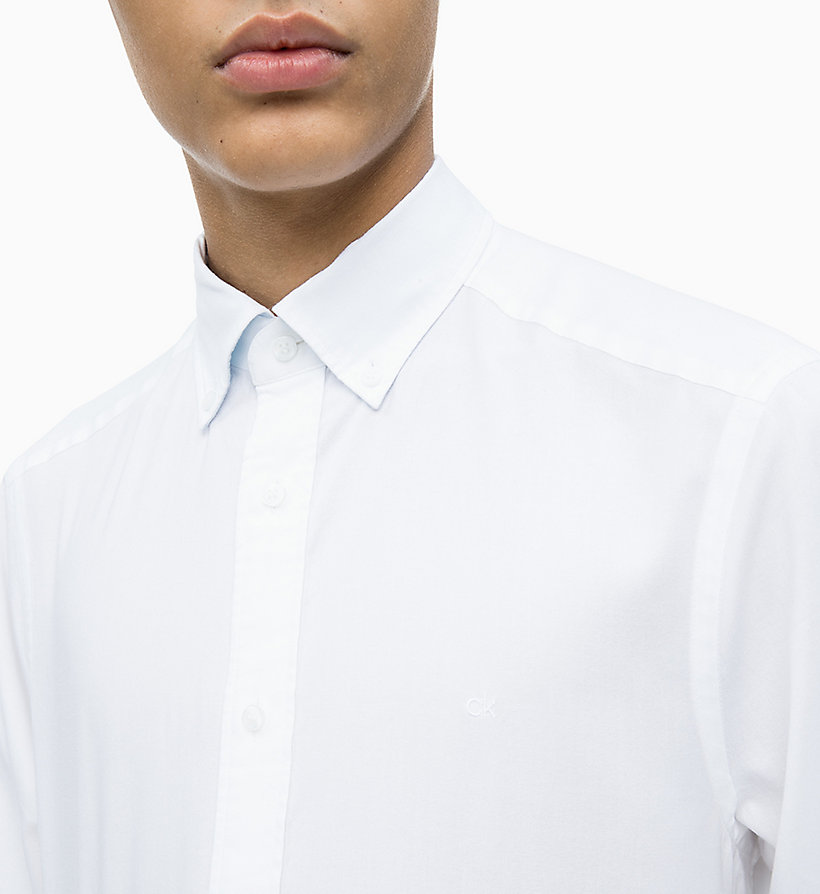 CALVIN KLEIN Oxford Cotton Shirt - CERULEAN - CALVIN KLEIN MEN - detail image 2