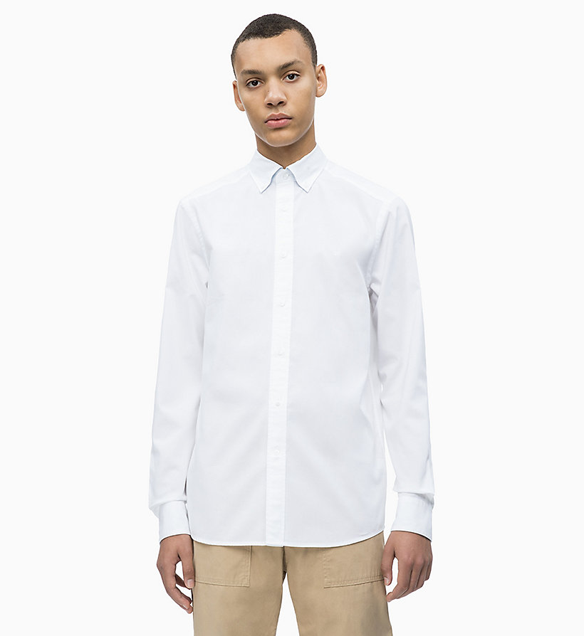 CALVIN KLEIN Oxford Cotton Shirt - CERULEAN - CALVIN KLEIN MEN - main image