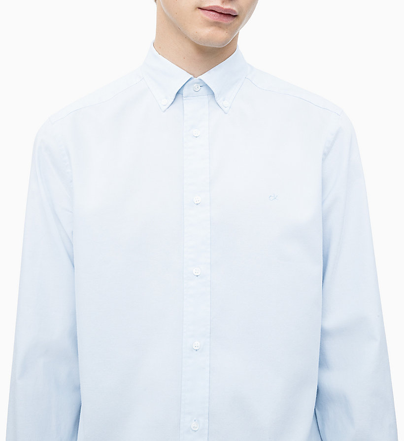 CALVIN KLEIN Oxford Cotton Shirt - SODALITE BLUE - CALVIN KLEIN MEN - detail image 2