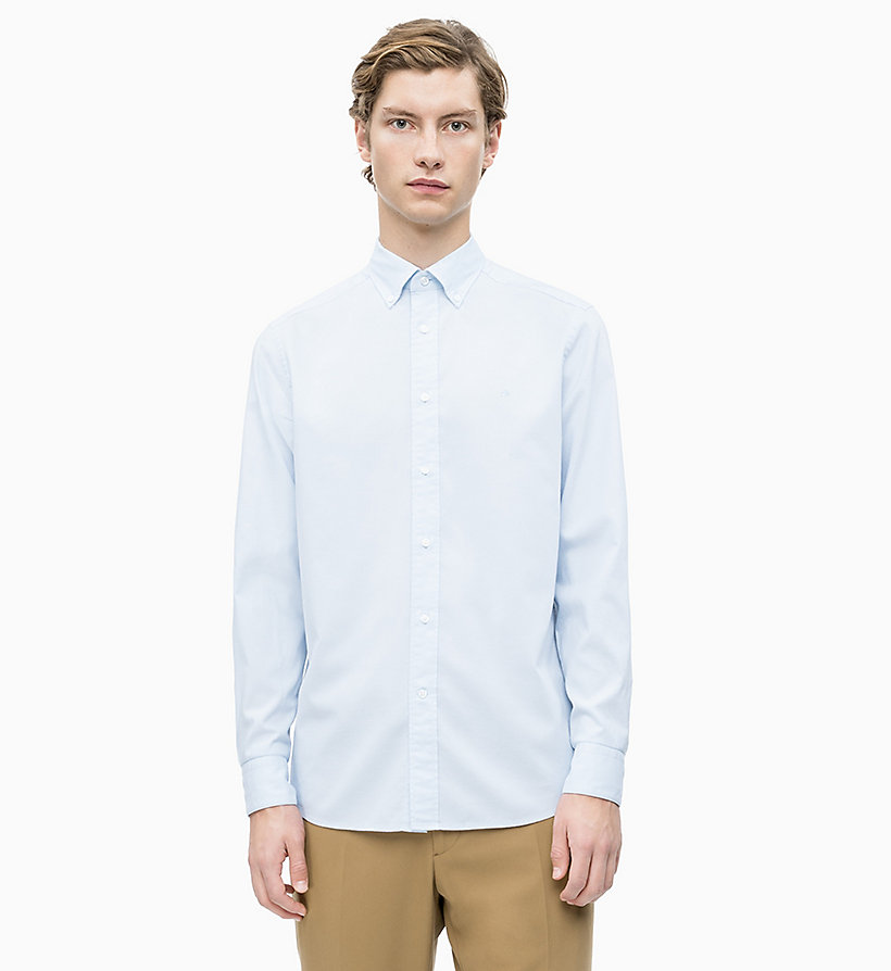 CALVIN KLEIN Oxford Cotton Shirt - SODALITE BLUE - CALVIN KLEIN MEN - main image
