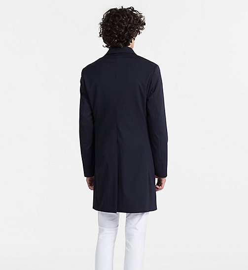CALVINKLEIN Techno Gabardine Coat - TRUE NAVY - CALVIN KLEIN BACK IN BUSINESS - detail image 1