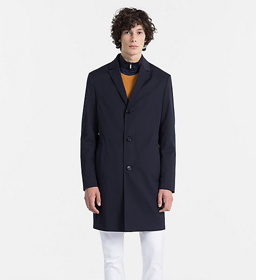 CALVINKLEIN Techno Gabardine Coat - TRUE NAVY - CALVIN KLEIN BACK IN BUSINESS - main image