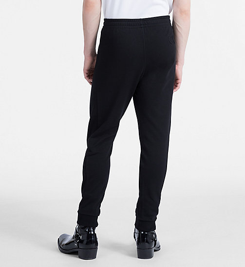 CALVINKLEIN Cotton Fleece Jogging Pants - PERFECT BLACK - CALVIN KLEIN CLOTHES - detail image 1