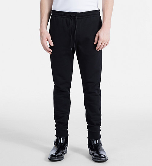 CALVINKLEIN Cotton Fleece Jogging Pants - PERFECT BLACK - CALVIN KLEIN NEW IN - main image
