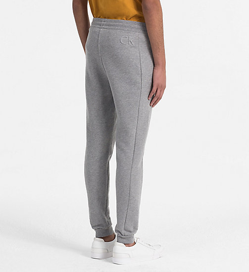 CALVINKLEIN Cotton Fleece Jogging Pants - MEDIUM GREY HTR - CALVIN KLEIN CLOTHES - detail image 1