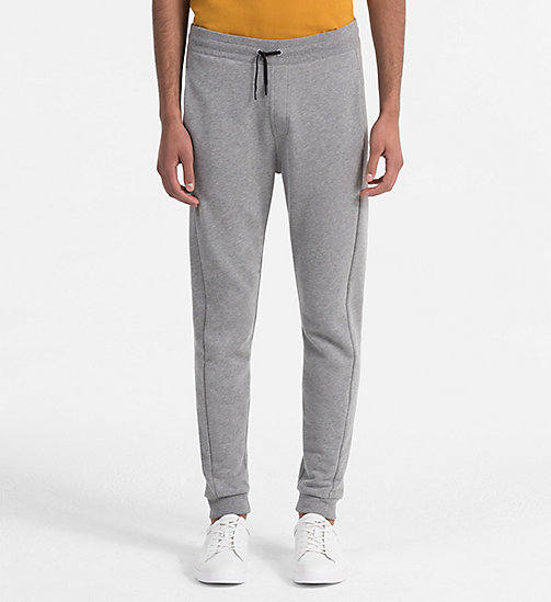 CALVINKLEIN Cotton Fleece Jogging Pants - MEDIUM GREY HTR - CALVIN KLEIN CLOTHES - main image