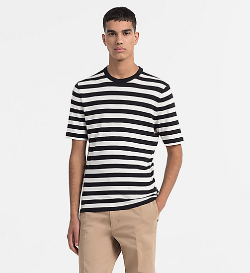 CALVINKLEIN Short-Sleeve Stripe Jumper - PERFECT BLACK - CALVIN KLEIN MODERN VARSITY - main image