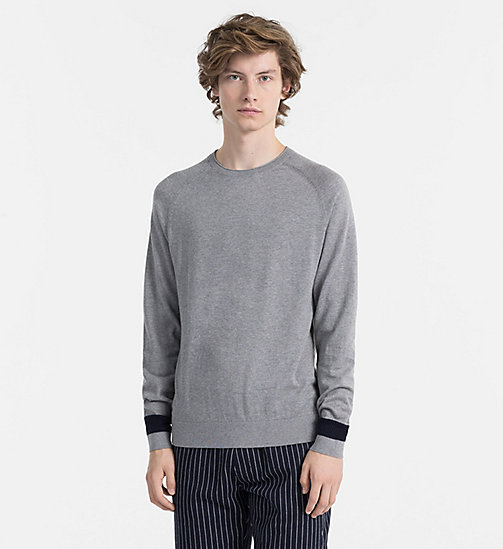 CALVINKLEIN Cotton Cashmere Jumper - MID GREY HEATHER - CALVIN KLEIN NEW IN - main image