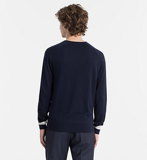 CALVINKLEIN Cotton Cashmere Jumper - SKY CAPTAIN -  NEW IN - detail image 1