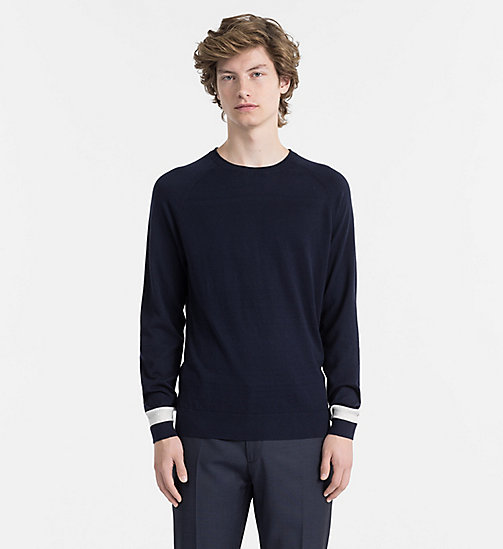 CALVINKLEIN Cotton Cashmere Jumper - SKY CAPTAIN - CALVIN KLEIN CLOTHES - main image