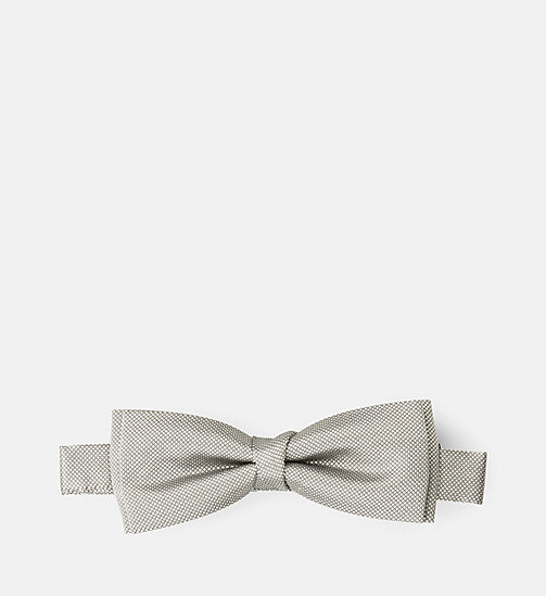 CALVINKLEIN Silk Bow Tie - LIGHT GREY - CALVIN KLEIN TIES - main image