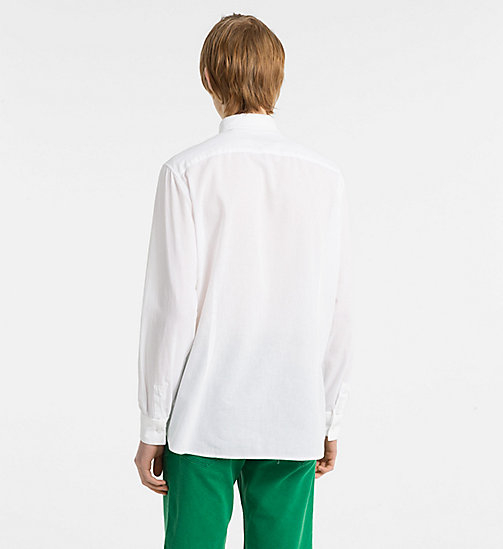 CALVINKLEIN Fitted Cotton Linen Shirt - PERFECT WHITE - CALVIN KLEIN NEW IN - detail image 1