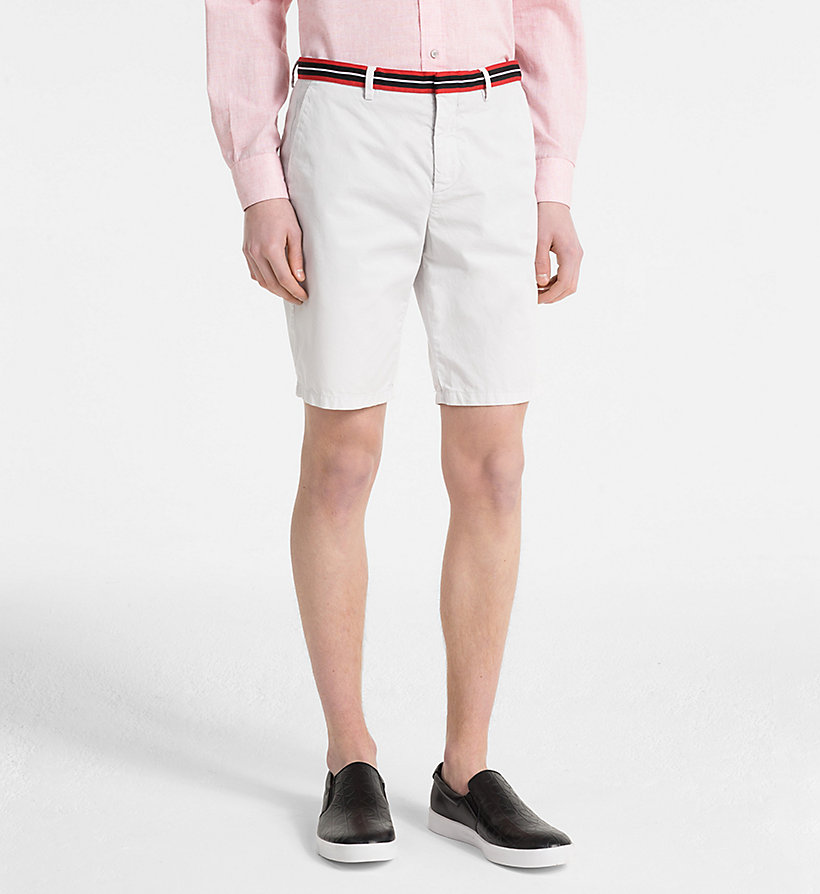 CALVINKLEIN Chino Shorts with Tape Trim - CORNSTALK - CALVIN KLEIN MEN - main image
