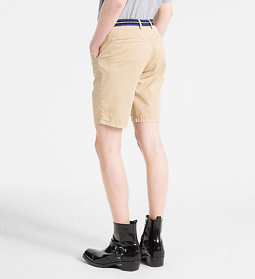 CALVINKLEIN Chino Shorts with Tape Trim - CORNSTALK - CALVIN KLEIN GET SMART - detail image 1
