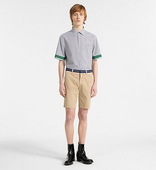 CALVIN KLEIN Chino Shorts with Tape Trim - CORNSTALK - CALVIN KLEIN GET SMART - detail image 1