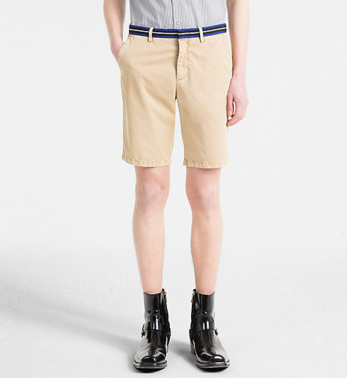 CALVIN KLEIN Chino Shorts with Tape Trim - CORNSTALK - CALVIN KLEIN GET SMART - main image