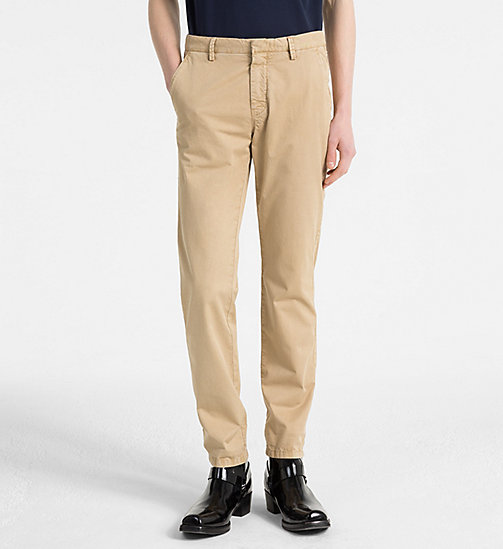 CALVINKLEIN Fitted Chino Trousers - CORNSTALK - CALVIN KLEIN NEW IN - main image
