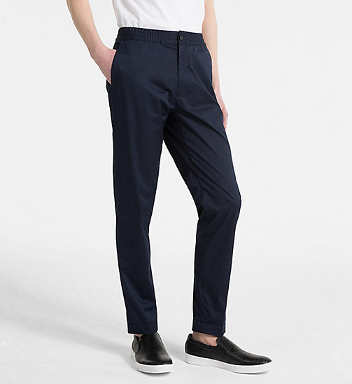CALVIN KLEIN Fitted Chino Trousers - NAVY BLAZER - CALVIN KLEIN CLOTHES - main image