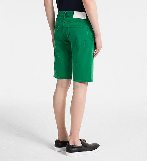 CALVINKLEIN Denim Shorts - OPHIR GREEN - CALVIN KLEIN GET SMART - detail image 1
