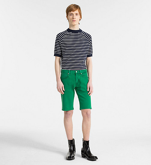 CALVIN KLEIN Denim Shorts - OPHIR GREEN - CALVIN KLEIN GET SMART - detail image 1