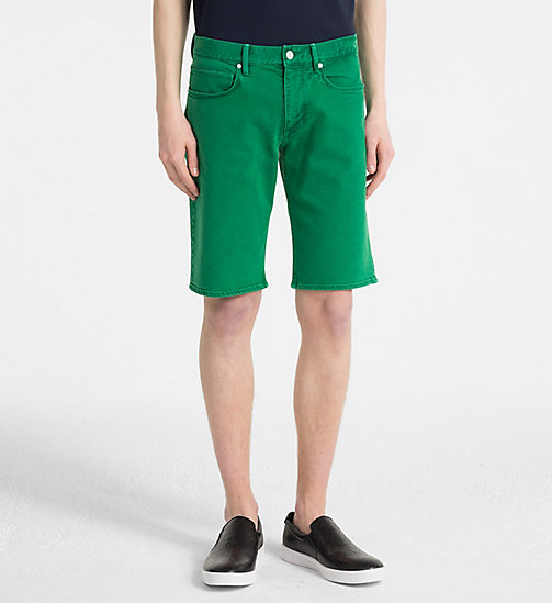 CALVINKLEIN Denim Shorts - OPHIR GREEN - CALVIN KLEIN GET SMART - main image