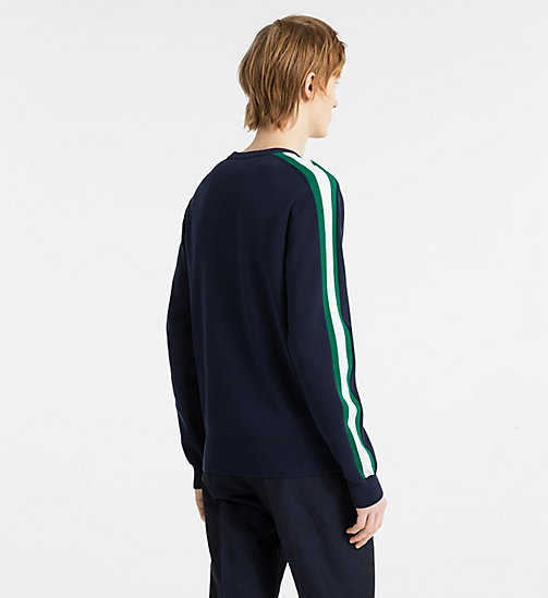 CALVINKLEIN Side-Stripe Jumper - NAVY BLAZER - CALVIN KLEIN JUMPERS - detail image 1