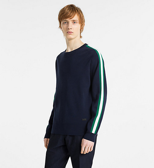 CALVINKLEIN Side-Stripe Jumper - NAVY BLAZER - CALVIN KLEIN NEW IN - main image