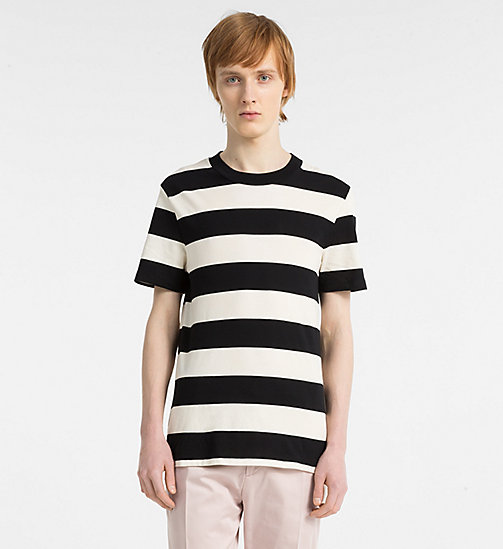 CALVINKLEIN T-shirt a righe colorate piene - PERFECT BLACK - CALVIN KLEIN BRILLANTE ELEGANZA - immagine principale
