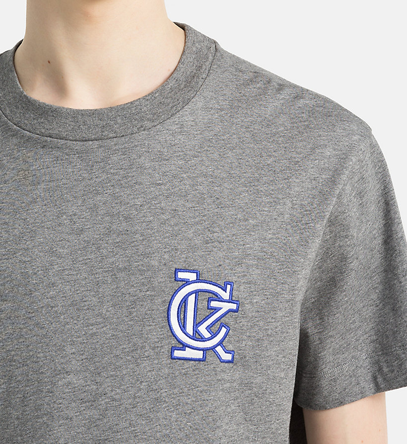 CALVINKLEIN Embroidered Logo T-shirt - PERFECT WHITE - CALVIN KLEIN MEN - detail image 3