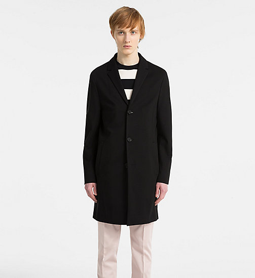 CALVIN KLEIN Compact Jersey Coat - PERFECT BLACK - CALVIN KLEIN GET SMART - main image