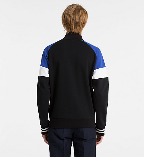 CALVINKLEIN Bonded Jersey Track Jacket - PERFECT BLACK - CALVIN KLEIN CLOTHES - detail image 1