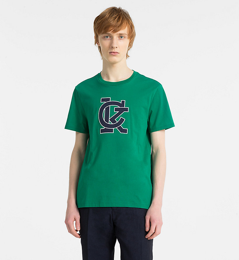 CALVINKLEIN Logo Applique T-shirt - SURF THE WEB - CALVIN KLEIN MEN - main image
