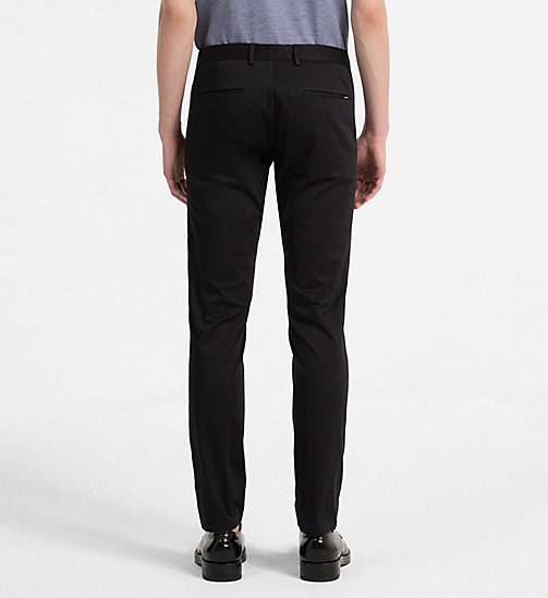 CALVINKLEIN Slim Chino Trousers - PERFECT BLACK - CALVIN KLEIN NEW IN - detail image 1