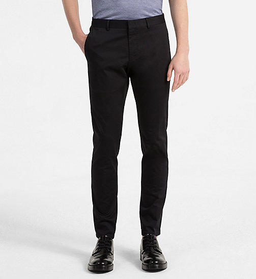 CALVINKLEIN Slim Chino Trousers - PERFECT BLACK - CALVIN KLEIN NEW IN - main image