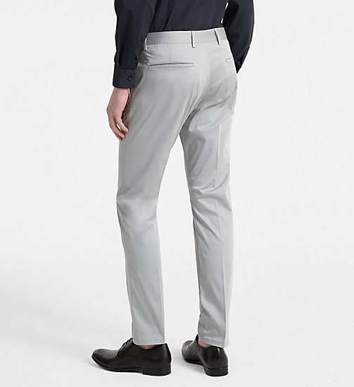 CALVINKLEIN Slim Chino Trousers - ALLOY - CALVIN KLEIN NEW IN - detail image 1