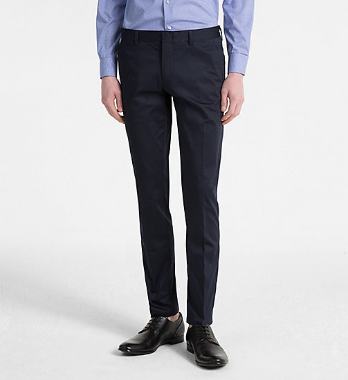 CALVINKLEIN Slim Chino Trousers - SKY CAPTAIN - CALVIN KLEIN CLOTHES - main image