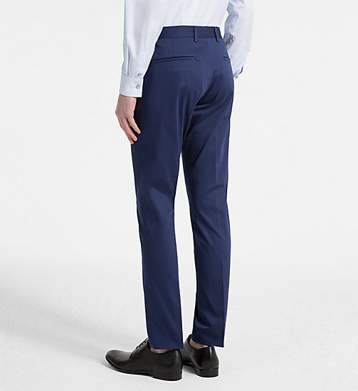 CALVINKLEIN Slim Chino Trousers - MEDIEVAL BLUE - CALVIN KLEIN CLOTHES - detail image 1