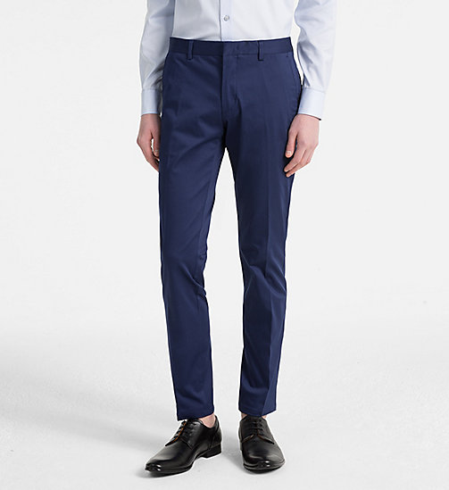 CALVINKLEIN Slim Chino Trousers - MEDIEVAL BLUE - CALVIN KLEIN CLOTHES - main image