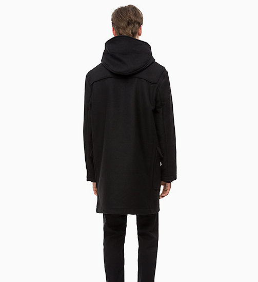 CALVINKLEIN Wool Duffle Coat - PERFECT BLACK - CALVIN KLEIN CLOTHES - detail image 1