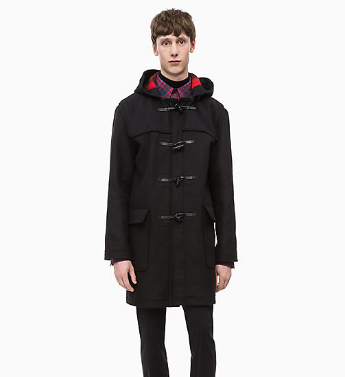 CALVINKLEIN Wool Duffle Coat - PERFECT BLACK - CALVIN KLEIN CLOTHES - main image