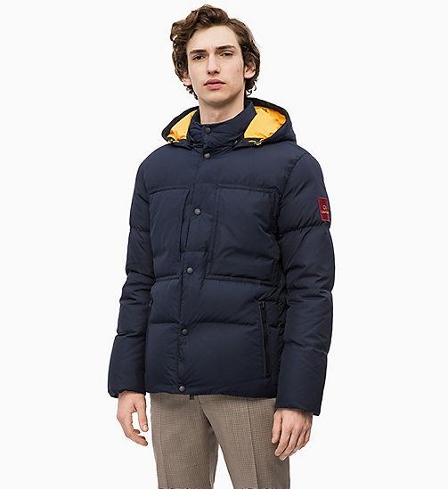 CALVINKLEIN Hooded Down Puffer Jacket - 413-SKY CAPTAIN - CALVIN KLEIN CLOTHES - main image