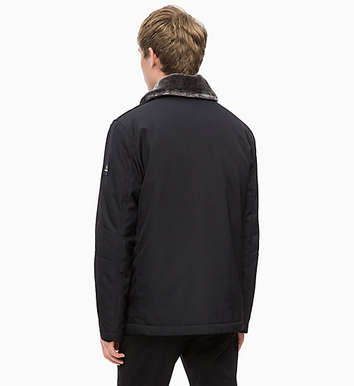 CALVINKLEIN Field Jacket with Shearling Collar - PERFECT BLACK - CALVIN KLEIN INVEST IN COLOUR - detail image 1