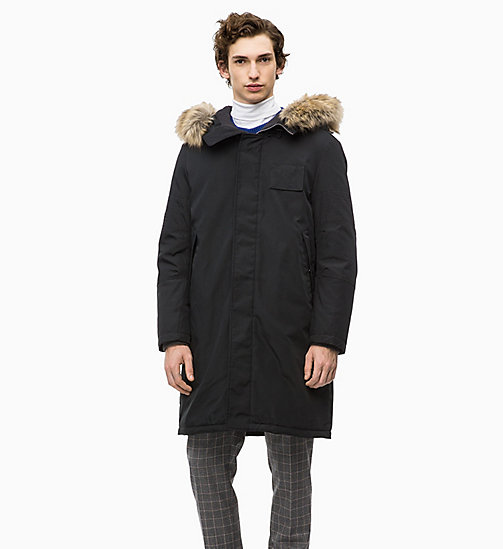 CALVIN KLEIN Canvas Down Parka Coat - PERFECT BLACK - CALVIN KLEIN CALVIN KLEIN MENSWEAR - main image
