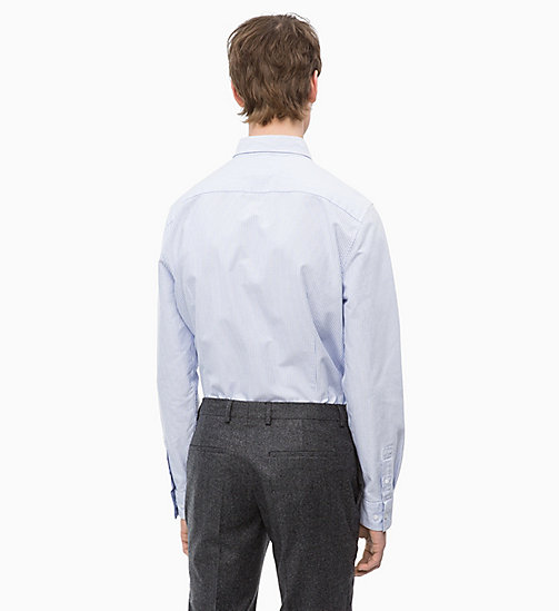 CALVINKLEIN Oxford Cotton Stripe Shirt - VISTA BLUE - CALVIN KLEIN INVEST IN COLOUR - detail image 1