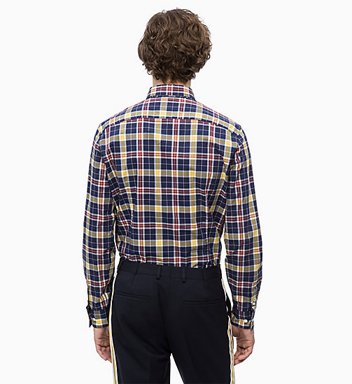 CALVINKLEIN Multicolour Check Shirt - 413-SKY CAPTAIN - CALVIN KLEIN CLOTHES - detail image 1