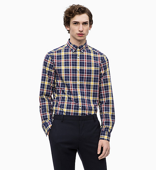 CALVINKLEIN Multicolour Check Shirt - 413-SKY CAPTAIN - CALVIN KLEIN CLOTHES - main image