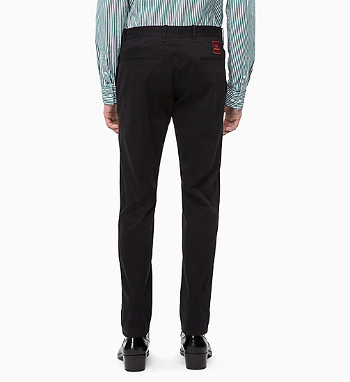 CALVINKLEIN Slim Chino Trousers - PERFECT BLACK - CALVIN KLEIN CALVIN KLEIN MENSWEAR - detail image 1