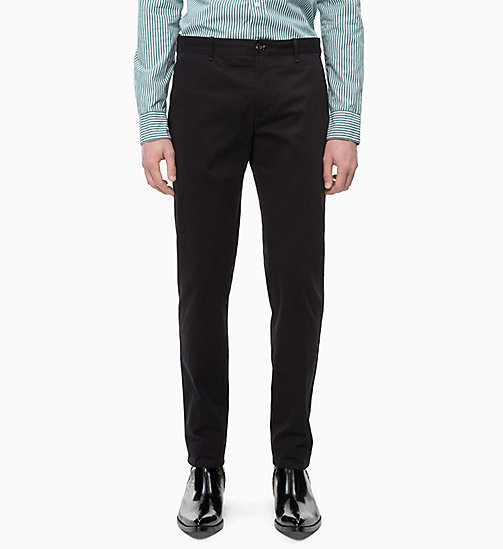 CALVIN KLEIN Slim Chino Trousers - PERFECT BLACK - CALVIN KLEIN CALVIN KLEIN MENSWEAR - main image